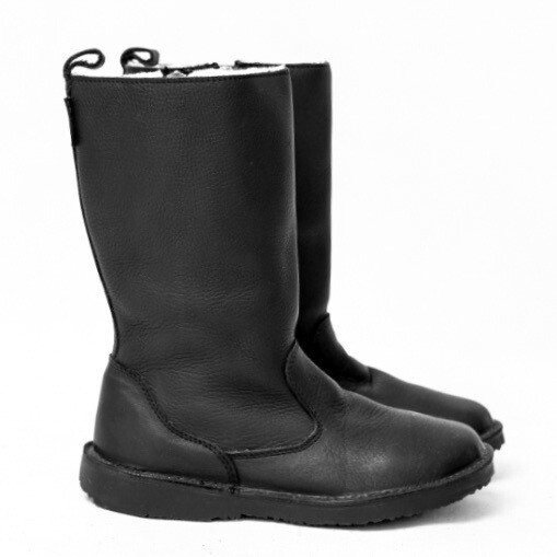 Eskimo Bundu Black wool-lined ladies leather boot