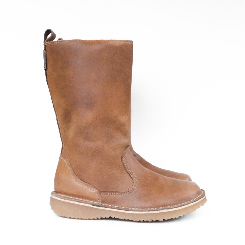 Eskimo Beige wool-lined ladies leather boot