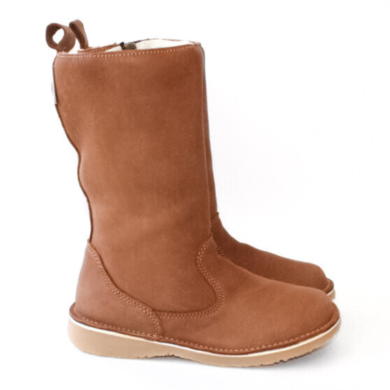 Eskimo Kudu Taupe wool-lined ladies leather boot