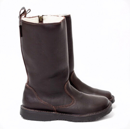 Eskimo Kudu Brown wool-lined ladies leather boot