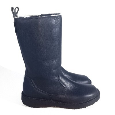 Eskimo Navy wool-lined ladies leather boot