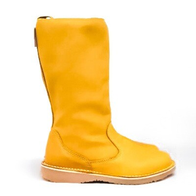 Eskimo Yellow wool-lined ladies leather boot