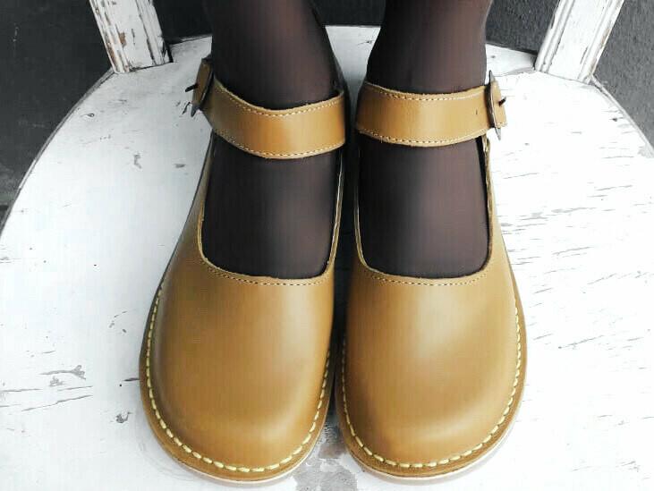 Alice Toe-cap Mustard