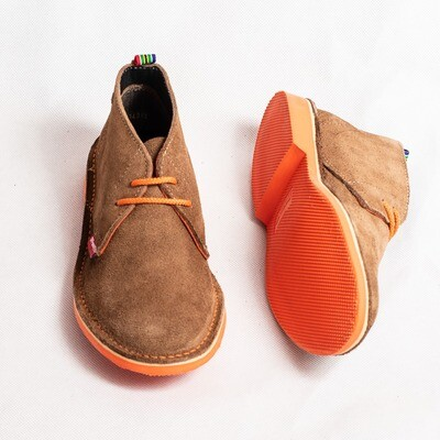 Rainbow Veldskoen Suede Khaki / Orange