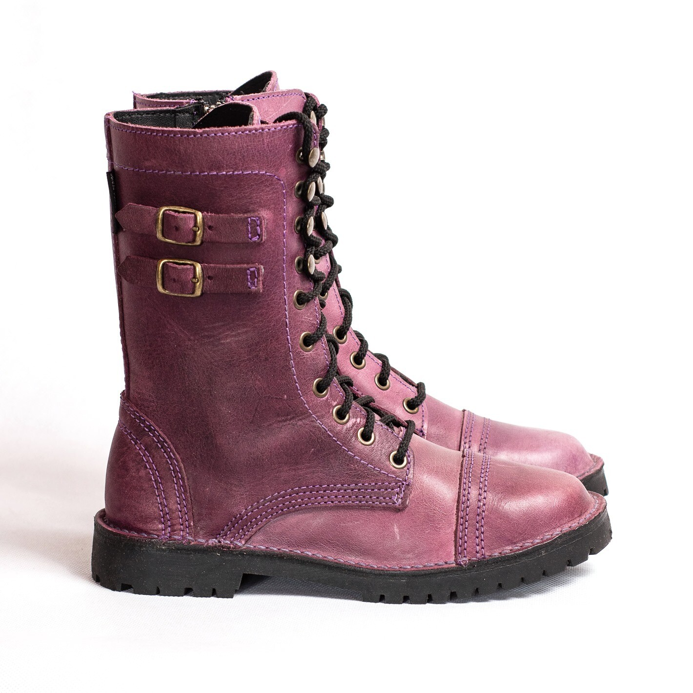 Combat Boot Purple