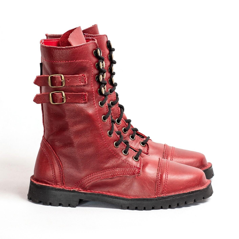 Combat Boot Red