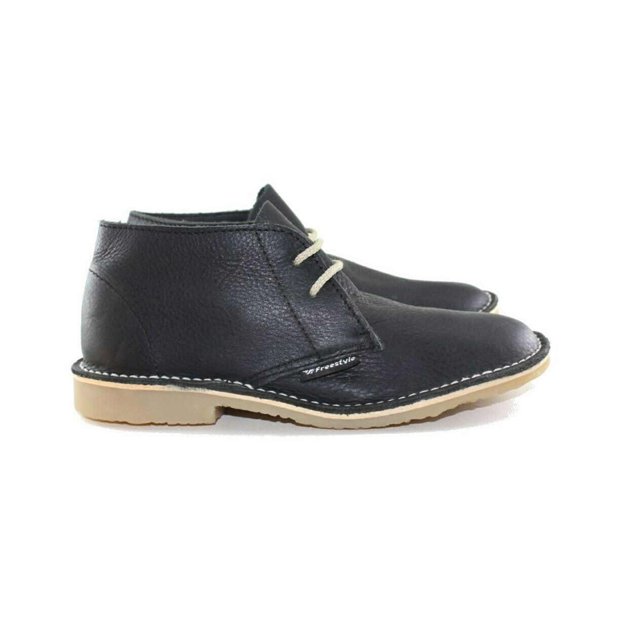 Veldskoen Full-Grain Leather Bundu Black