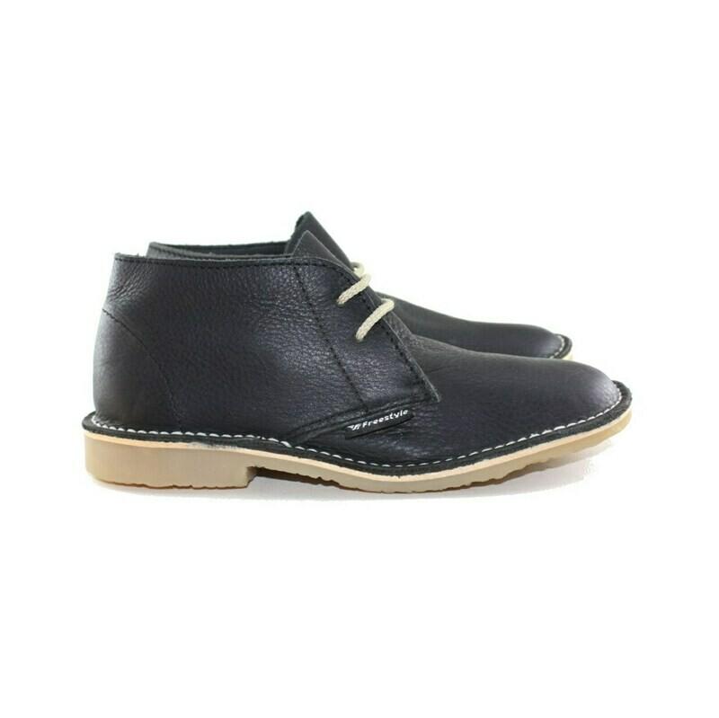 Veldskoen Full-Grain Leather Bundu Black