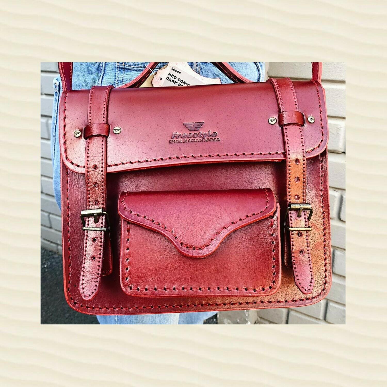 Handbag Connie Dark Red