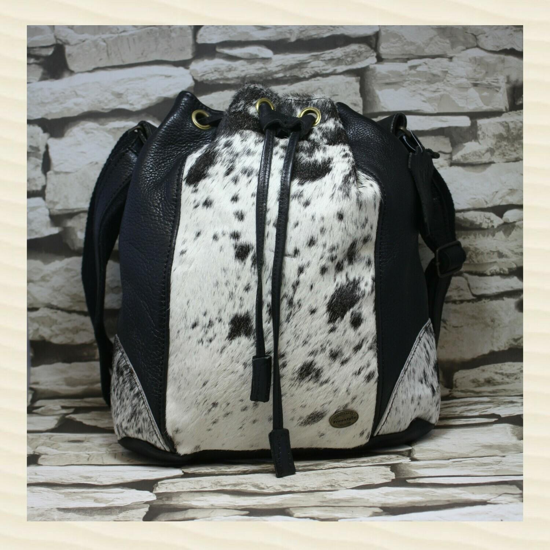 Handbag Madrid Nguni Black