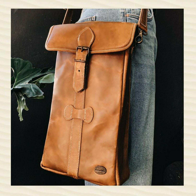 Satchel Wine Bag Tan