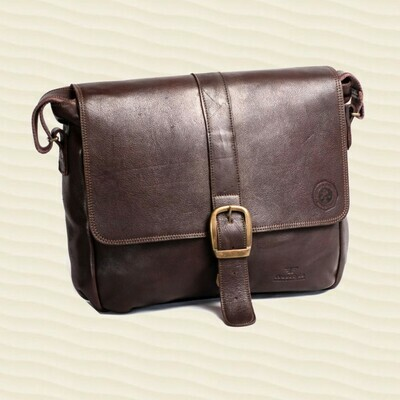 Satchel Postbag Kudu Dark Brown