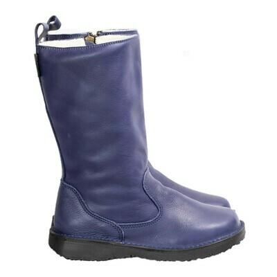 Eskimo Cobalt Blue wool-lined ladies leather boot