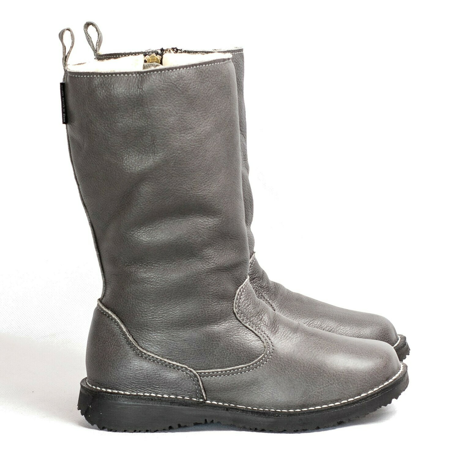 Eskimo Smoke wool-lined ladies leather boot