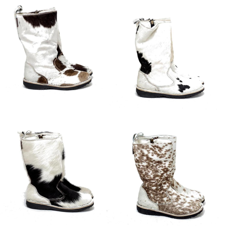 Eskimo Nguni Hair-on wool-lined ladies boot