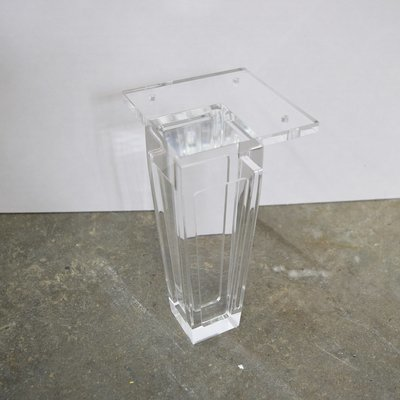 Square acrylic legs set of 4