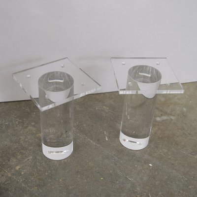 Cylinder acrylic legs set of 4