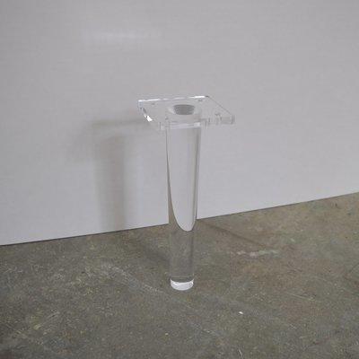 Mid century modern acrylic legs set of 4