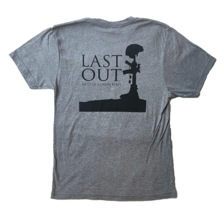 Last Out Unisex T-shirt - Grey
