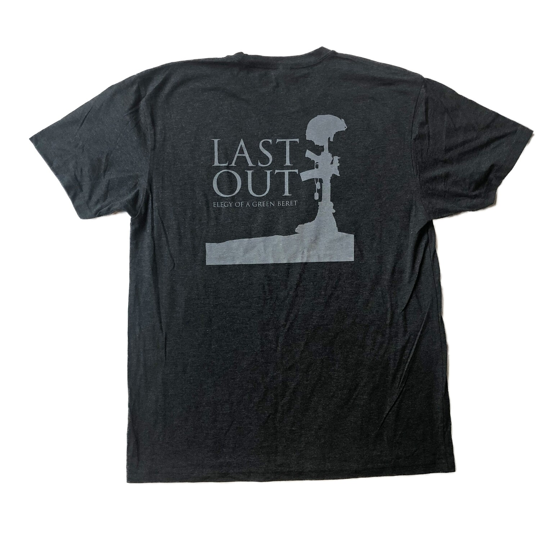 Last Out Unisex T-shirt - Charcoal