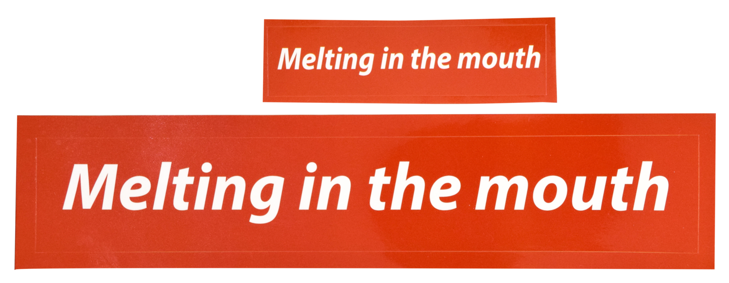Melting in the mouth Sticker