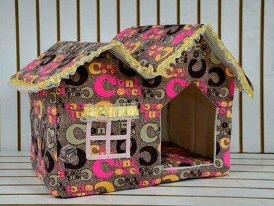 Casa para mascotas acolchada con cojín