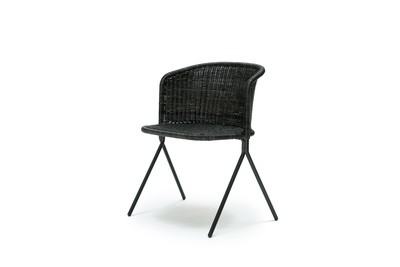 Kaki armchair indoor
