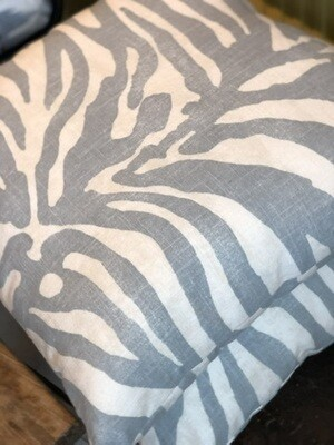 Zebra pillows light blue