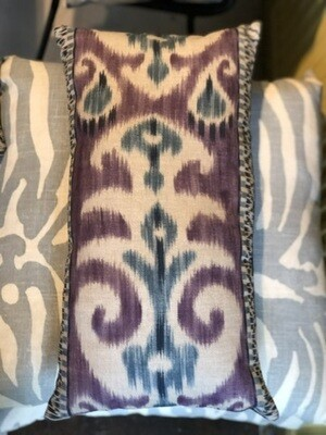 Purple ikat pillows