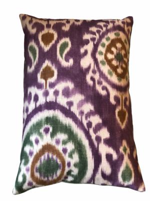 Purple ikat pillow