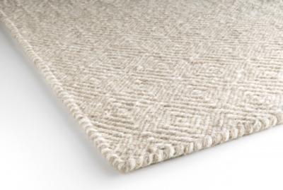 Diamond rug beige