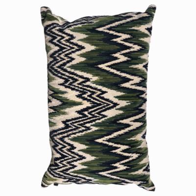 Pillow zig zag green