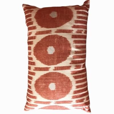 Pillow orange ikat