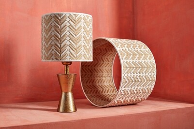 Lampshade arrow gold/white