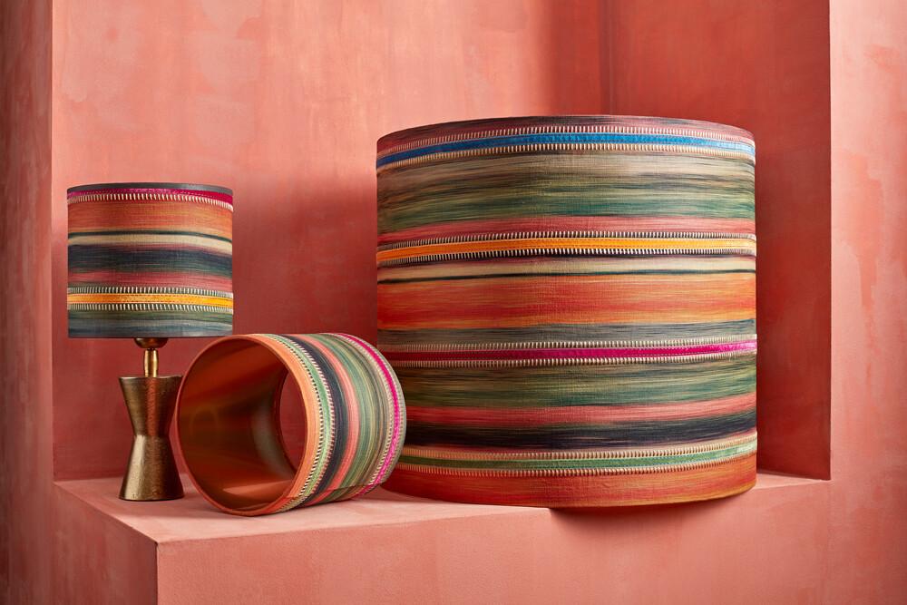 Lampshade bohemian stripe