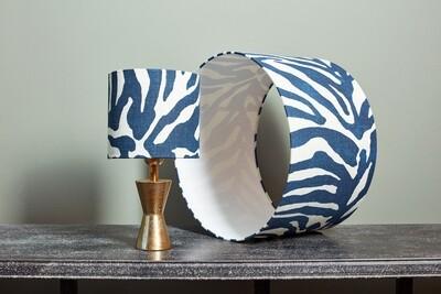 Lampshade blue zebra
