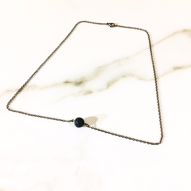 Simple Lava Stone Necklace