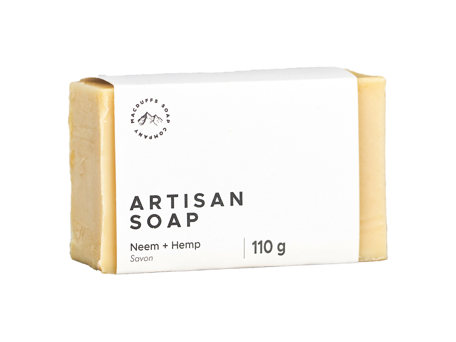 Neem & Hemp Unscented Bar Soap