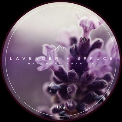 LAVENDER + SPRUCE SHAVE SOAP