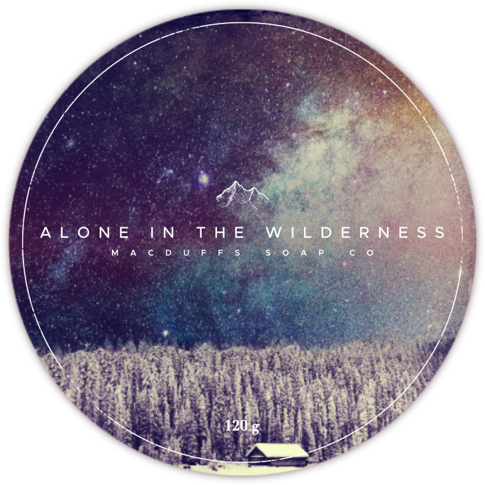 ALONE IN THE WILDERNESS SHAVE SOAP (EO SCENT)