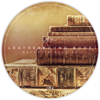 LEATHERBOUND BOOK SHAVE SOAP