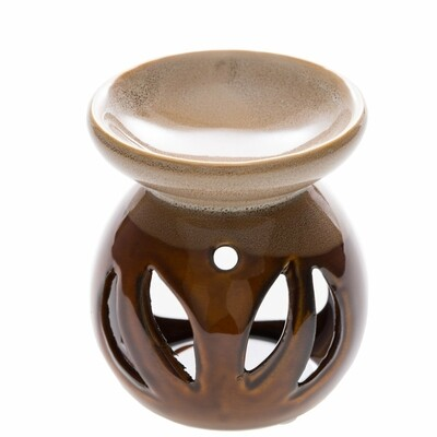 Ceramic Diffuser + Wax Melter - Brown