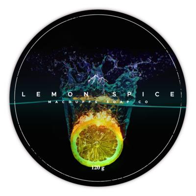 LEMON SPICE SHAVE SOAP (EO SCENT)