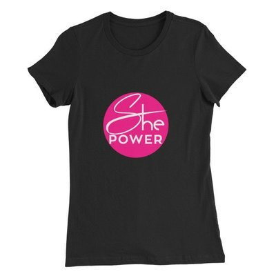 ShePower Logo Women's Slim Fit T-Shirt