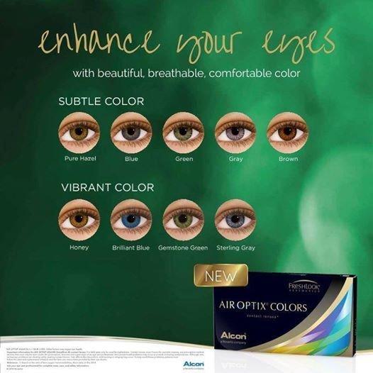 Air optix colors color contacts