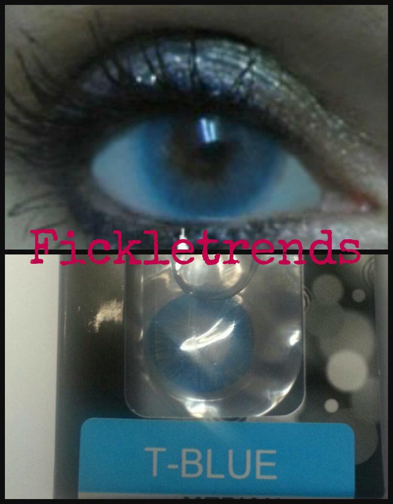 Soft blue color enhancers color contacts