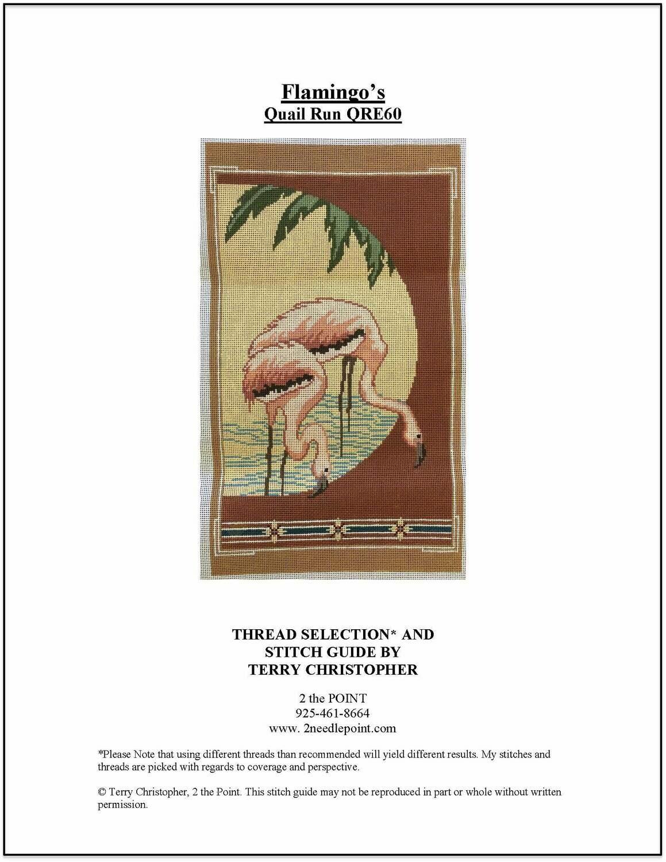 Quail Run Designs, Flamingos QRE60