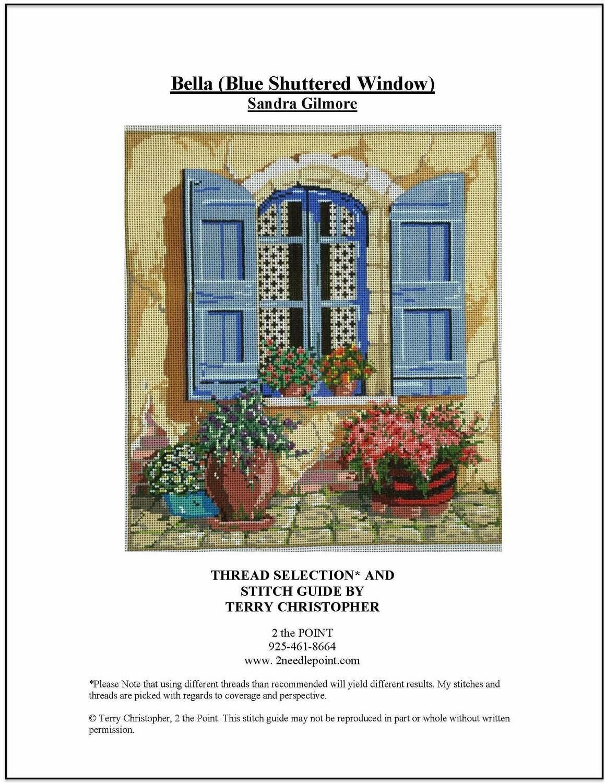 Sandra Gilmore, Blue Shuttered Window