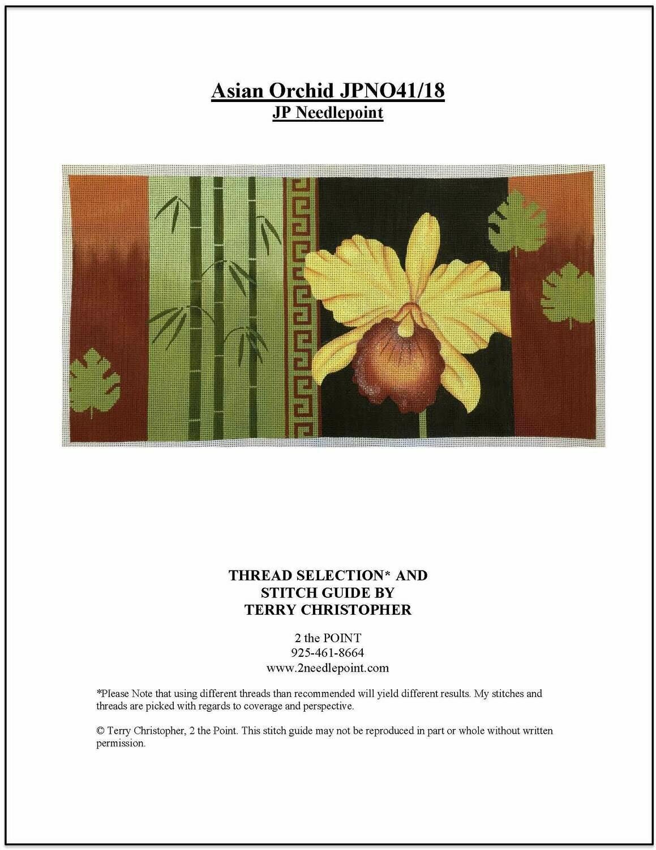 JP Needlepoint, Asian Orchid JPN041