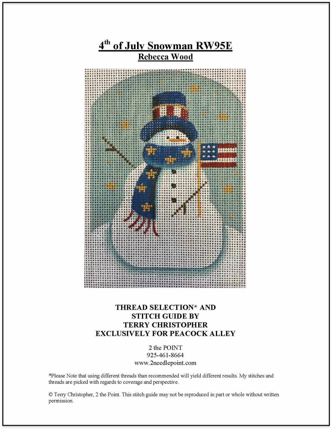 Rebecca Wood, 4th of July Snowman RW95E